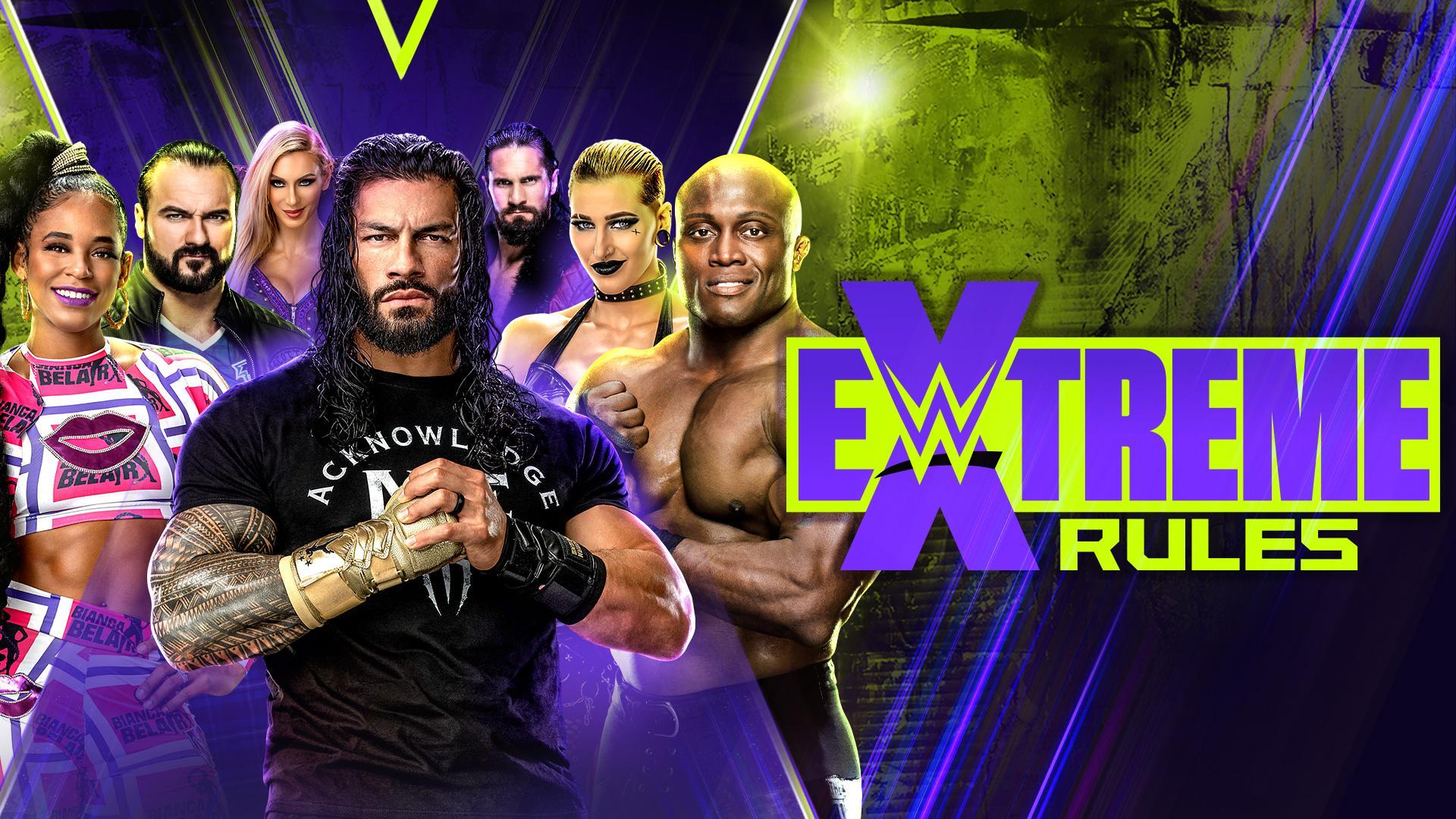 Roman Reigns em destaque no pôster do WWE Extreme Rules