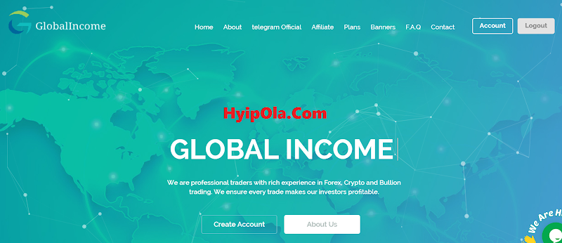[SCAM] Review Global Income - Site đánh nhanh tương tự Hash365 - Lãi từ 5% hằng ngày