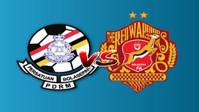 Live Streaming PDRM vs Kelantan Liga Premier 10.7.2019