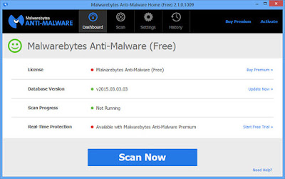 تحميل اداة حذف ملفات التجسس مالوير بايت Malwarebytes 2020
