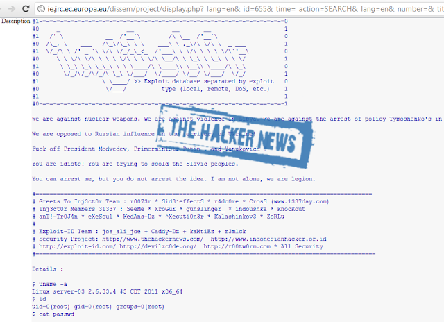 European Union hacked by Inj3ct0r Team