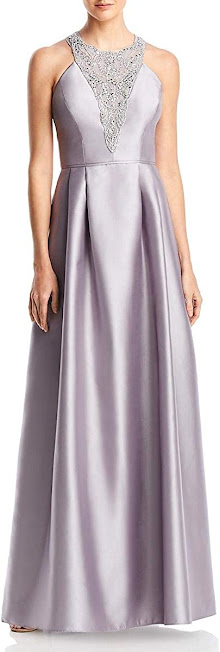 Long Silver Mother of The Bride Dresses