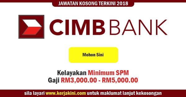 jawatan kosong cimb bank 2018