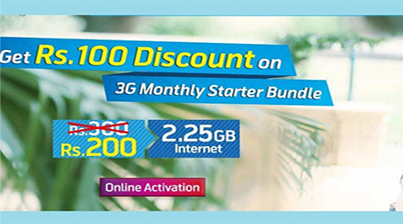 Telenor Djuice  3G Monthly Starter Bundle Get 2.25GB