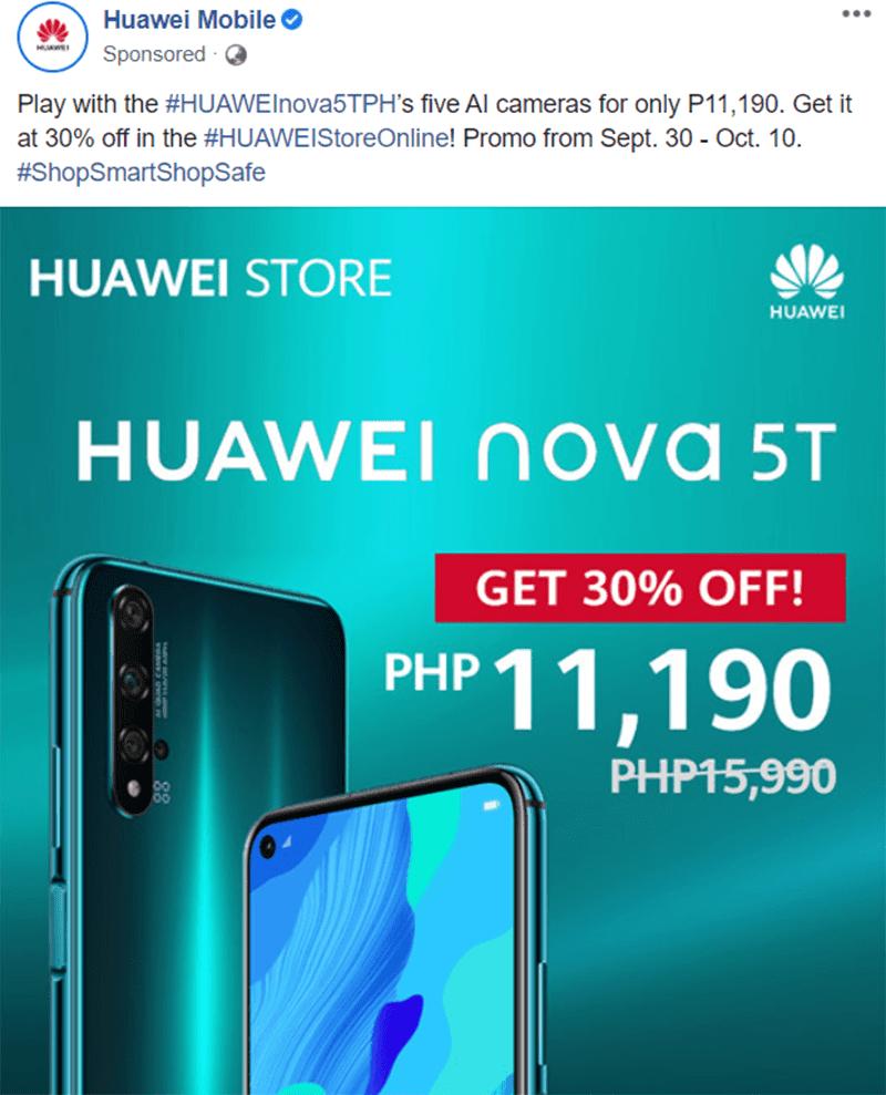 nova 5T price cut
