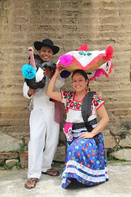 Mexican Couple Dressed for Celebration