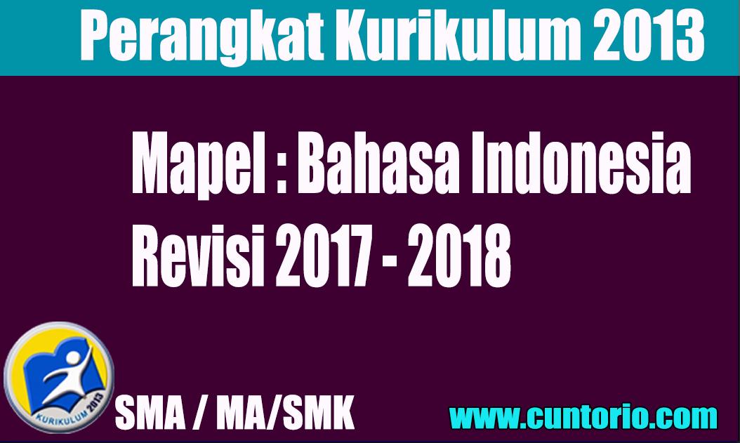 RPP K13 Bahasa Indonesia Kelas X XI dan XII Revisi