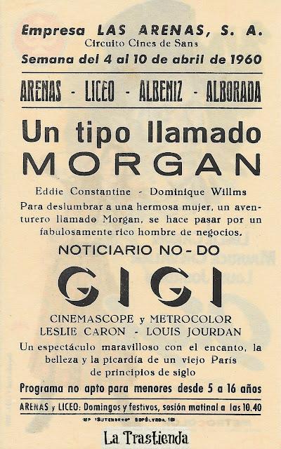 Programa de Cine - Gigi - Leslie Caron - Louis Jourdan - Maurice Chevalier