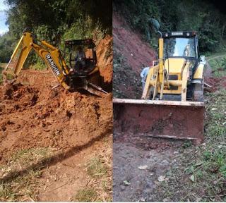 Prefeitura de Miracatu trabalha para desobstruir estradas atingidas pelas fortes chuvas