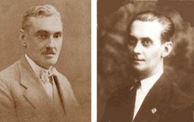 Esteve Puig i Puig y Joan Bertrán Casals, primer y segundo presidente de la Federació Catalana d'Escacs