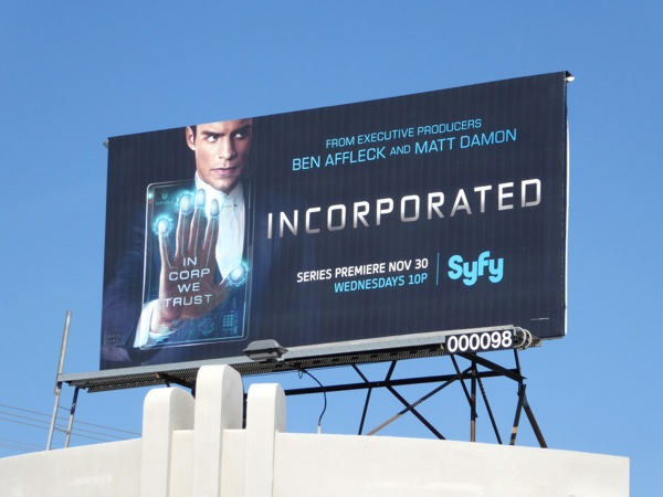 Incorporated Syfy series billboard