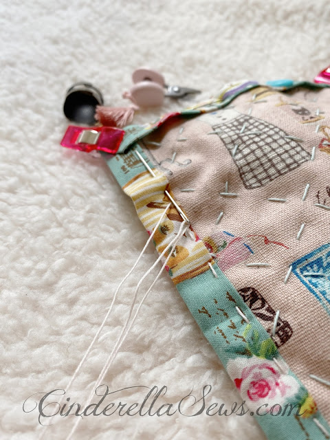 Tiny Quilt and Pillow Sewing Pattern for dolls and softies! This free PDF sewing pattern is for hand-sewing beginners and heirloom doll enthusiasts. A sweet afternoon sewing project to do with or without kids, hand stitching is a wonderful mindfulness exercise. #sewasoftie #handsewing #sewing #sewingpattern #sewingproject #sewingwithkids