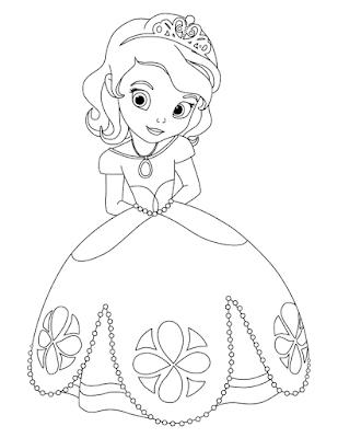 Gambar Mewarnai Putri Sofia - 4