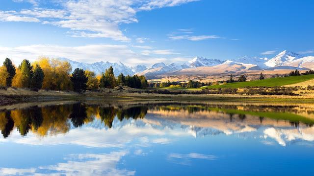 Papel de Parede Lago e Montanhas