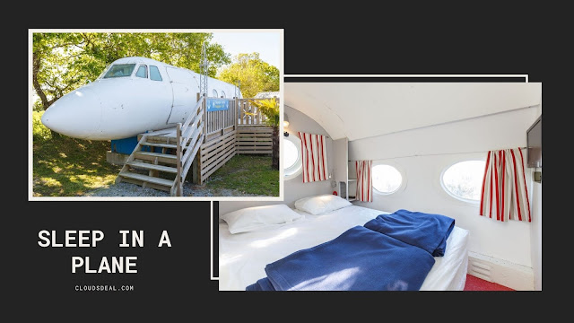 sleep in a plane airbnb stay