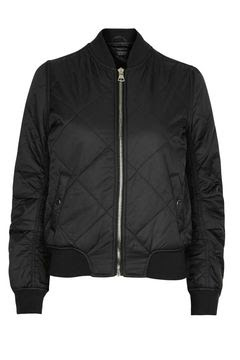 Quilted MA1 bomber jacket, $100 by Topshop