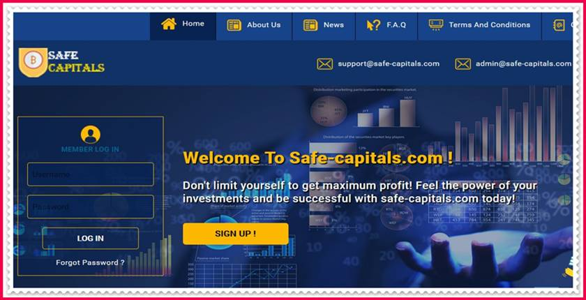 Мошеннический сайт safe-capitals.com – Отзывы, развод, платит или лохотрон? Мошенники