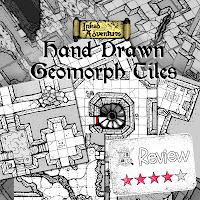 Frugal GM Review: Inked Adventures Hand Drawn Geomorph Tiles