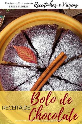 Receita de bolo de chocolate rapido