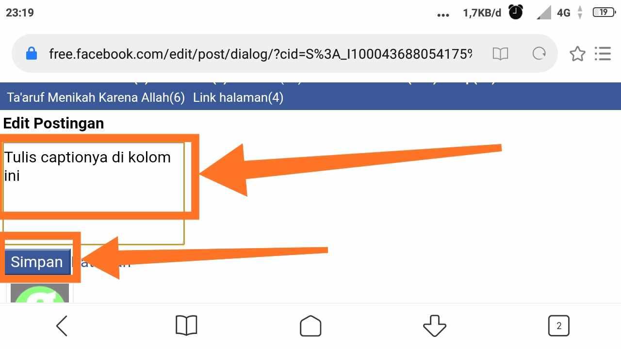 Cara mengganti foto profil fb orang lain lewat hp