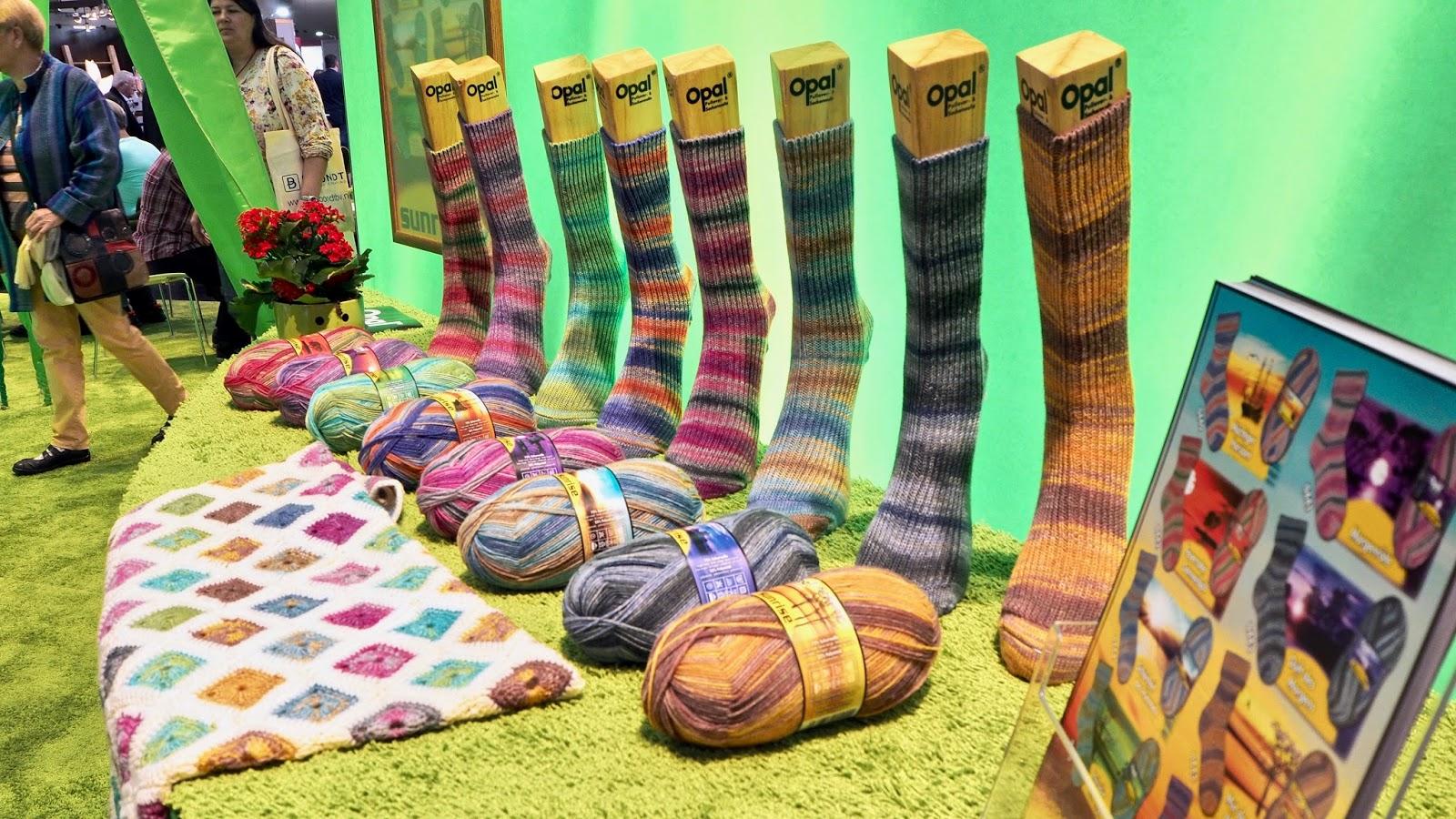 Opal Sockenwolle auf der h+h in Köln