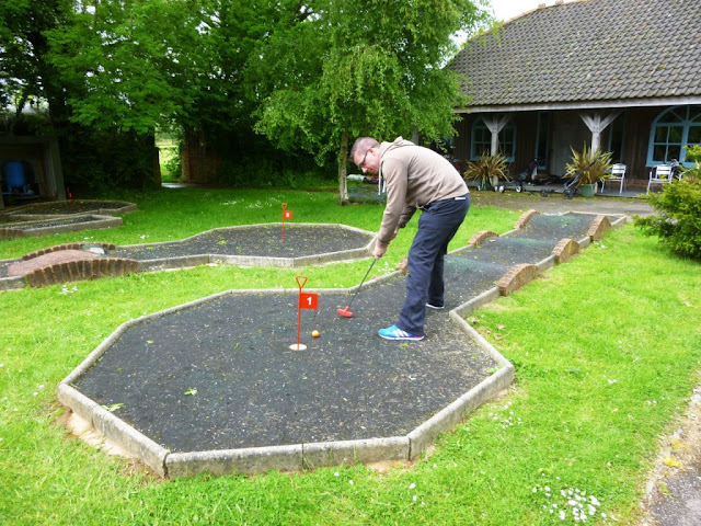 Mini Crazy Golf course at Thorne Golf Centre near Salcombe Regis, Devon