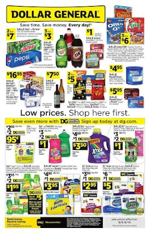 Dollar General Ad 9/15/19 and Weekly Ad 9/22/19