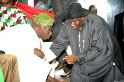 obasanjo absent jonathan 2nd term