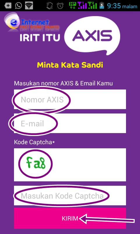 Cara daftar paket internet Axis melalui aplikasi AXIS NET  Cara Daftar Paket Internet