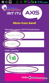 Cara daftar nomor kartu axis di aplikasi AXIS net  Cara Daftar Paket Internet