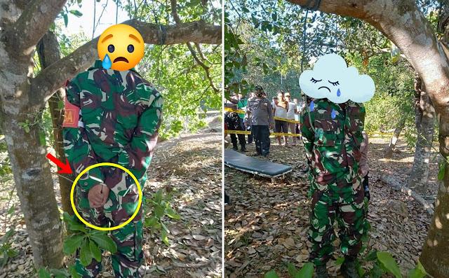 Innalillahi, Tangan Anggota TNI Ini Diikat, Tubuhnya Digantung di Pohon