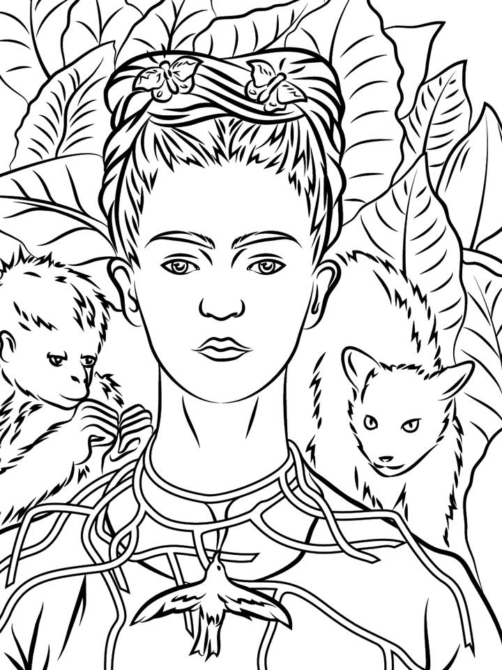 - Mandala Frida Kahlo Coloring Pages Coloring Pages