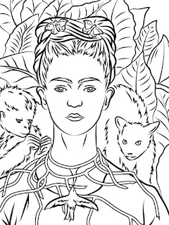 Mandala Frida Kahlo Coloring pages