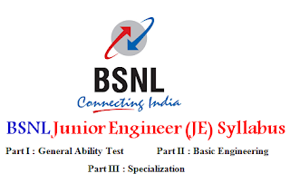 BSNL Junior Engineer (JE) Syllabus