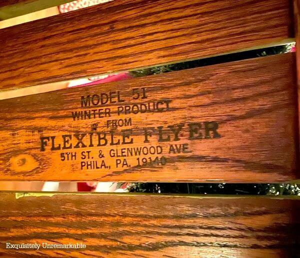 Flexible Flyer Model 51