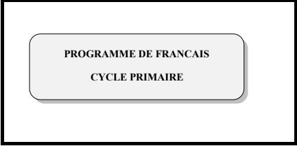programme de français primaire en Algérie PDF