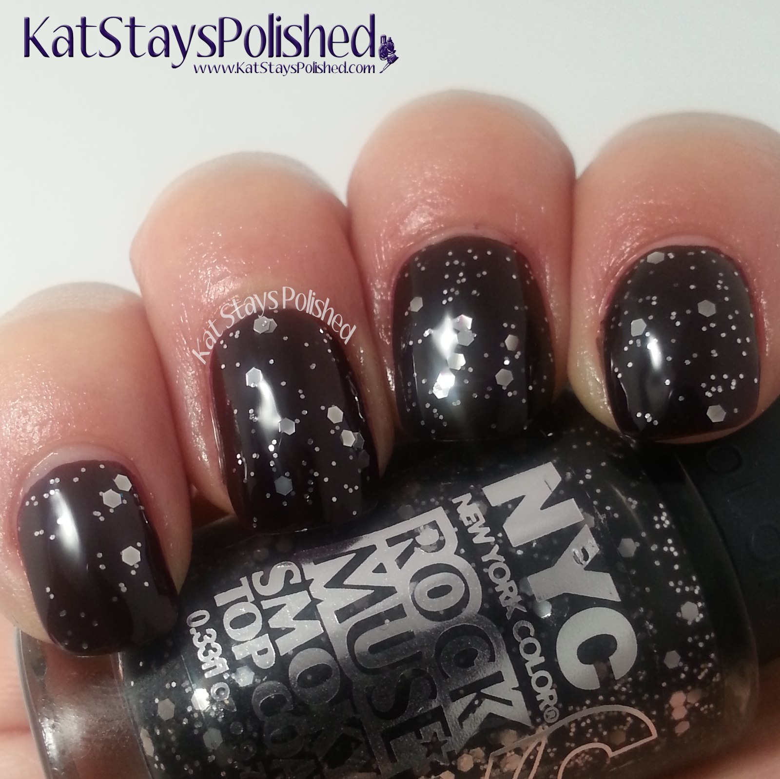 NYC New York Color - Midnight Beauty Collection - I Am Not AffRED with Rock Muse | Kat Stays Polished
