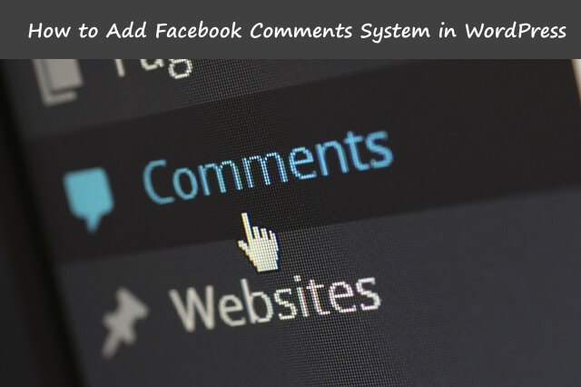 facebook comment wordpress