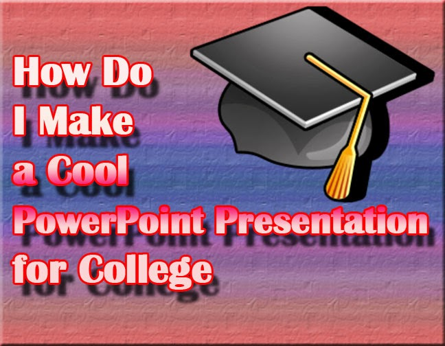 College presentation using Microsoft PowerPoint