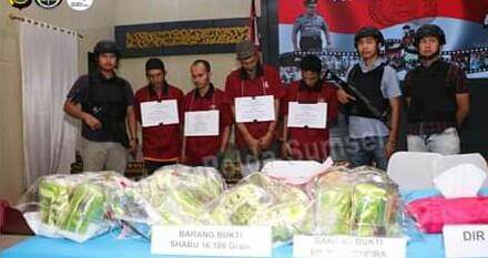 Jajaran Ditnarkoba Polda Sumsel Ungkap Tindak Pidana Narkotika