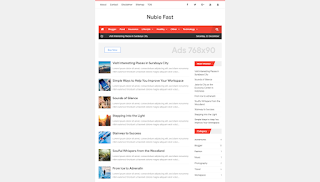 Nubie Fast Minimalist Responsive Blogger Template