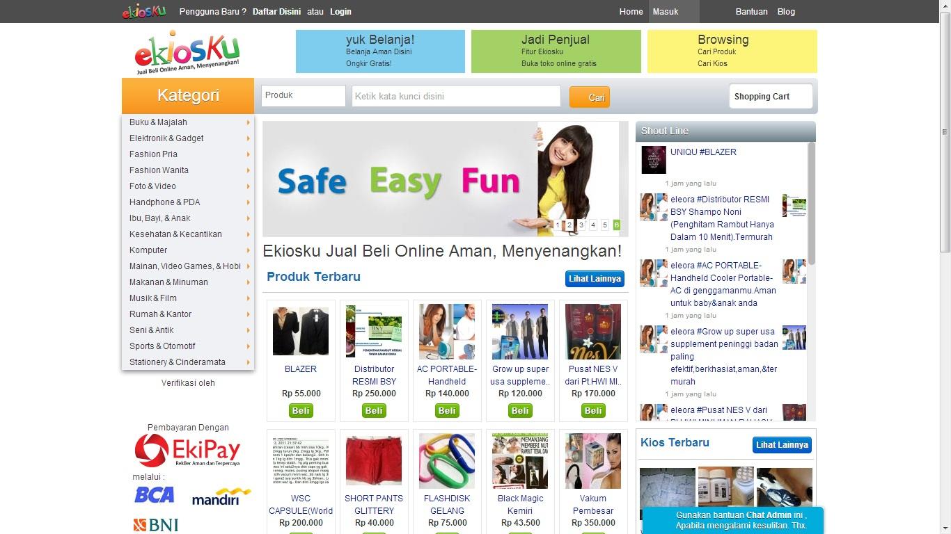 Ekiosku com Situs Jual Beli Online Aman Menyenangkan