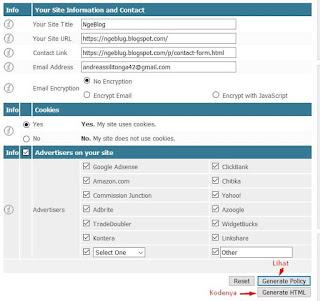 Cara Mudah Membuat Privacy Policy Buat Blogger - Tampilan Membuat Halaman Privacy Policy Statis di Blogger
