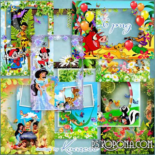 PNG Crianças molduras - O mundo do tipo desenhos animados da Disney