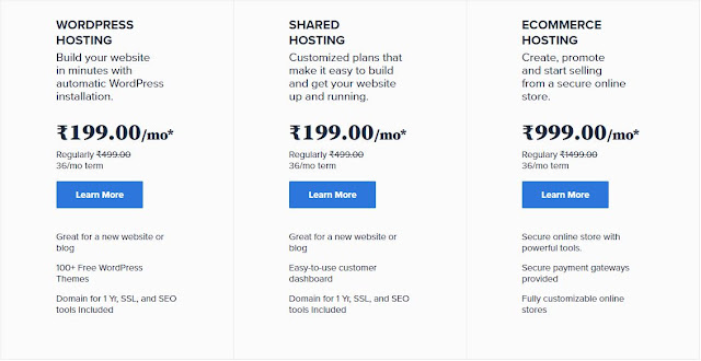 Price of Bluehost Hosting