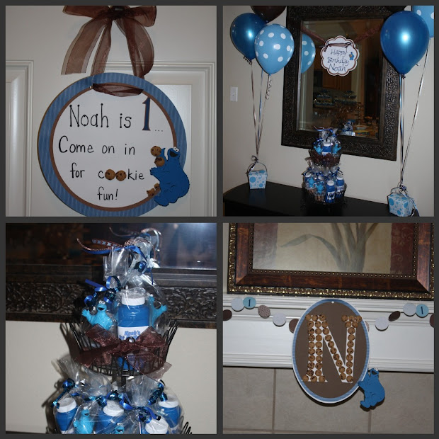 Thornton Noah' 1st Birthday Party - Cookie Monster