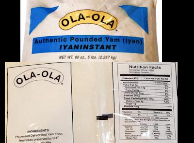 yam flour for fufu