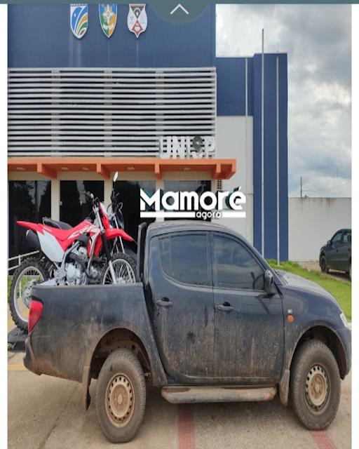Três motocicletas são furtadas de concessionária e Polícia de Nova Mamoré recupera duas