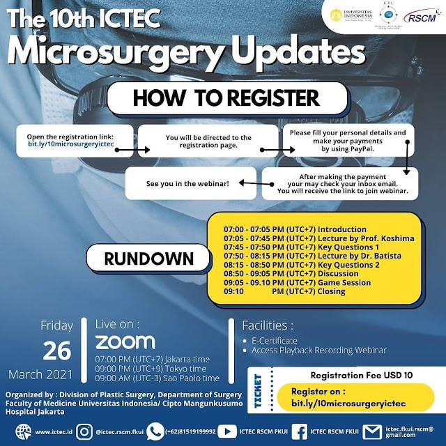 The 10th ICTEC online Microsurgery Update