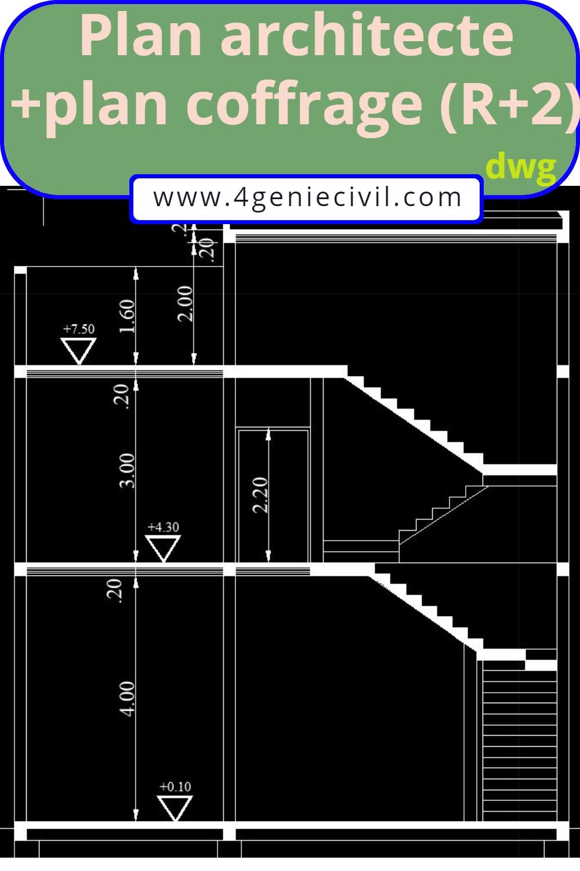 plan maison gratuit en format dwg autocad